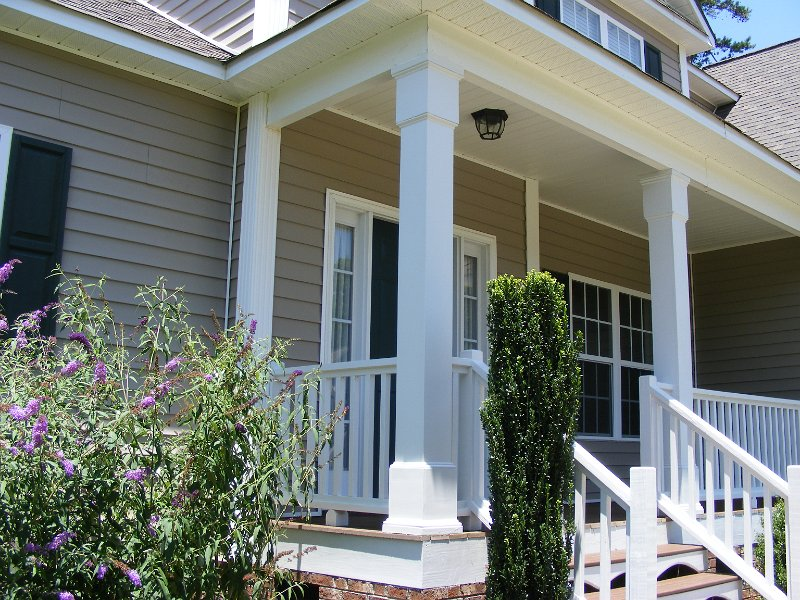 Custom porch column for Decorative exterior columns for house